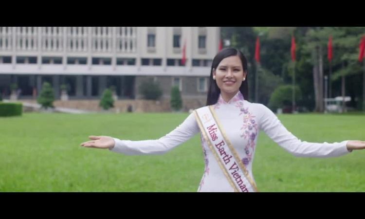 Thái Thị Hoa giới thiệu cảnh đẹp Việt Nam ở Miss Earth