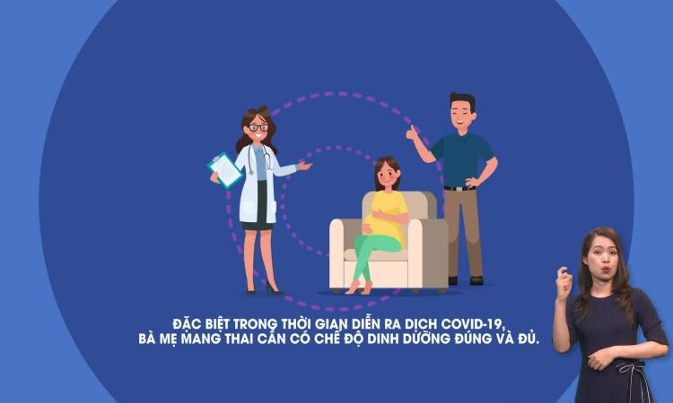 Dinh dưỡng cho phụ nữ mang thai mùa dịch Covid-19