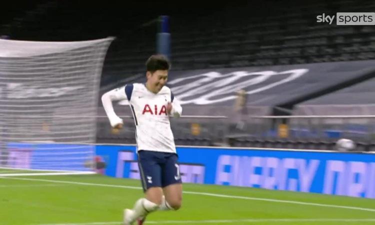Song Heung-Min nâng tỷ số lên 2-0 cho Tottenham