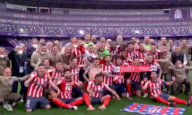 Atletico mừng chức vô địch không Cúp