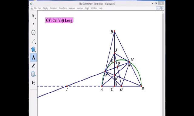 Giải bài hình trong đề thi toán vào lớp 10 của học sinh Hà Nội
