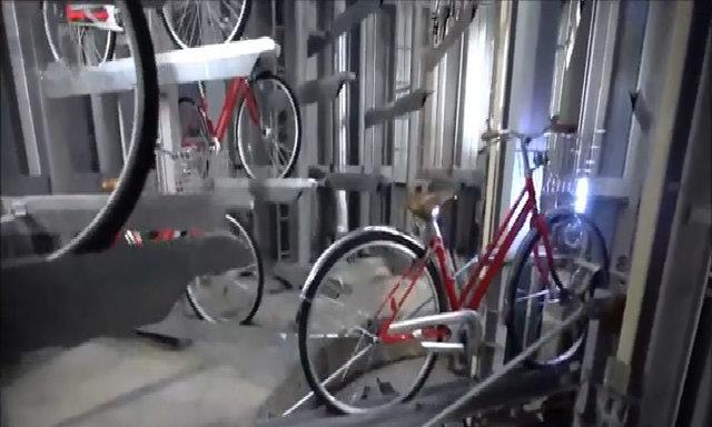 Bãi để xe đạp bí ẩn dưới lòng đất ở Nhật