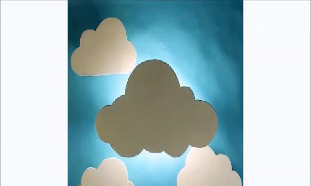Những đám mây phát sáng trên tường