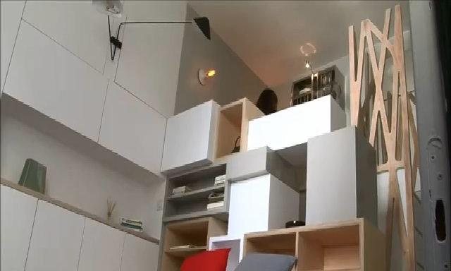 Căn hộ 11 m2 với đủ các phòng chức năng