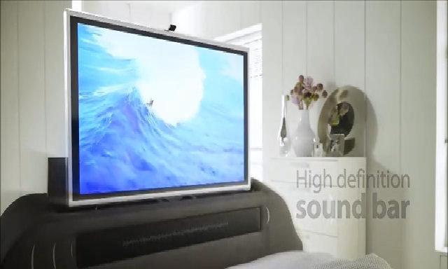 TV tự giấu gọn ở phía cuối giường