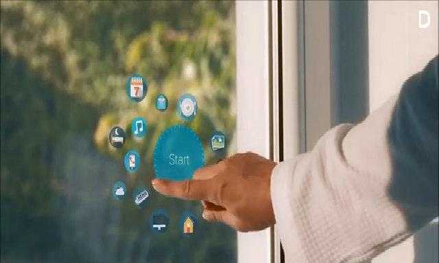 Cửa sổ kính 'thần kỳ' biến thành tivi, máy tính
