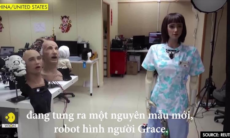 Robot 'chị gái' Sophia giúp chăm sóc sức khỏe trong Covid-19